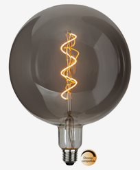Star Trading LED-lampa E27 G200 Industrial Vintage, Smoke