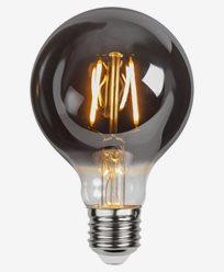 Star Trading LED-pære G80 E27 1,8W/2100K Plain Smoke