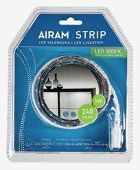 Airam LED Strip Lysbånd 1m vit IP20/54, 4,8W. 4107186