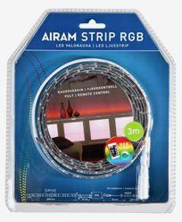 Airam LED-strip 3m IP20/54 RGB 2 12V 24W. 4107190