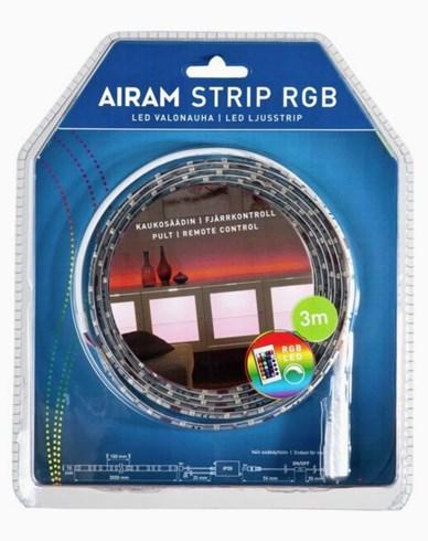 Airam LED Strip 3m RGB IP20/54, 14,4W. 4107190