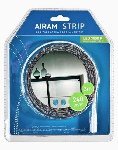 Airam LED Strip Ljusband 3m vit IP20/54, 14,4W. 4107188