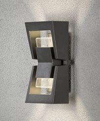 Konstsmide Potenza vägglykta 2x4W dimbar LED mörkgrå