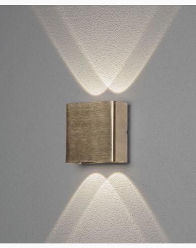 Konstsmide Chieri vägglykta mässning 2x2W LED