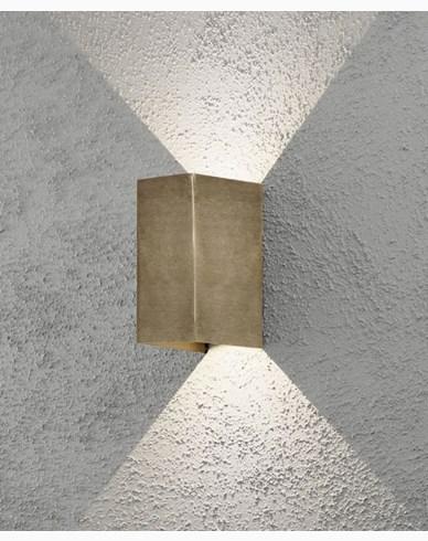 Konstsmide Cremona vägglykta mässing 2x3W LED