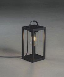 Konstsmide Bologna gulvlampe liten svart E27 230V 5m kabel