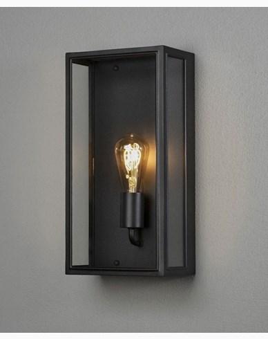 Konstsmide Carpi vägglykta svart large klarglas E27