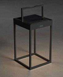 Konstsmide Portofino lanterna svart USB/sol 2700K/3000K
