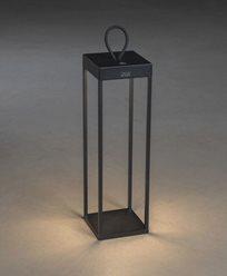 Konstsmide Ravello lanterna svart USB dimbar 50cm