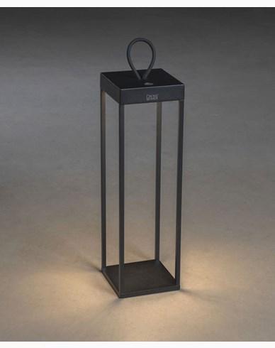Konstsmide Ravello lanterne svart USB kan dimmes 50cm