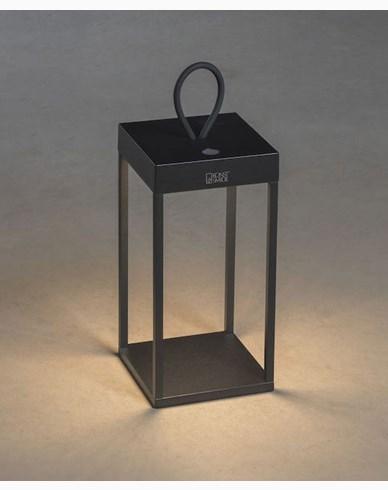 Konstsmide Ravello lanterne svart USB kan dimmes 30cm