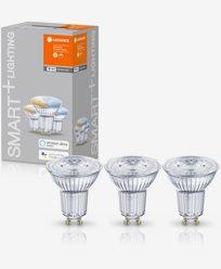 Ledvance SMART+ WiFi PAR16 TW 50 40° tbdW/GU10. 3-pakke