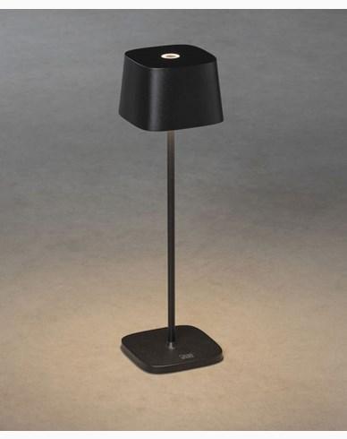 Konstsmide Capri svart fyrkantig USB 2700K/3000K dimbar