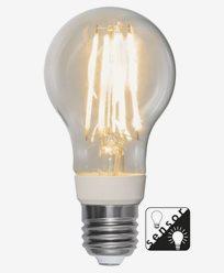 Star Trading LED-pære 8W/2700K (75W) E27 A60 Sensor clear