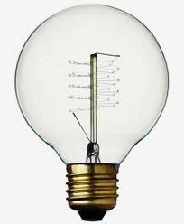 Danlamp Globe Deluxe glödlampa med karbontråd 25W E27