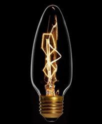 Danlamp kirkelampe, glødepære med karbontråd 25W E27