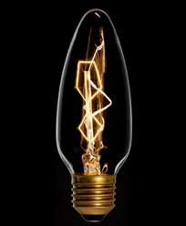 Danlamp Kyrklampa, glödlampa med karbontråd 25W E27