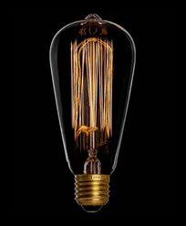 Danlamp Edison glødepære med karbontråd. 60W E27