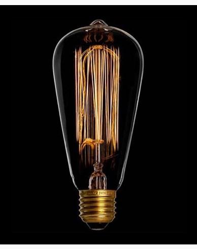Danlamp Edison glödlampa med koltråd. 60W E27