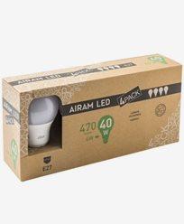 Airam LED Normalformad ledlampa E27 A60 6W/2700K, 4-pack
