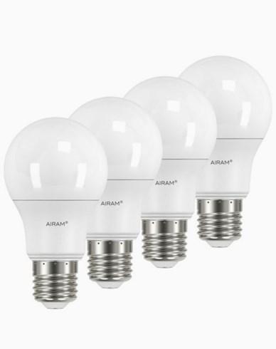 Airam LEDlampa Normalformad E27, 9,5W 4-pack