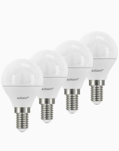 Airam LED-pære Krone/Illum E14, 5,5W 4-pakning