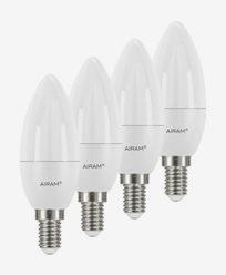 Airam LED-pære Mignon E14, 5,5W 4-pakning