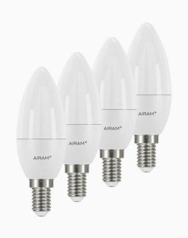 Airam LEDlampa Kronljus E14, 5,5W 4-pack