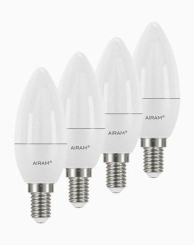 Airam LED-pære Mignon E14, 3,5W 4-pakning
