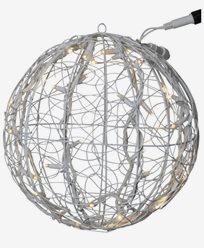 System LED ljusboll av slingor Ø35cm Varmvit. Vit kabel