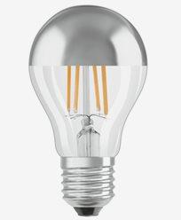 OSRAM LED-lampa Normal toppförspeglad Silver 7W/827 (50W) E27. Dim.