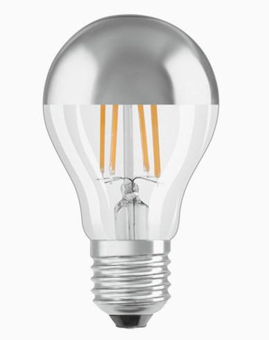 OSRAM LED -lampe Normal toppspeilet sølv 7W / 827 (50W) E27. Dim.
