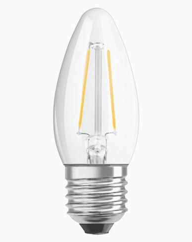 OSRAM LED-lampa Kron Klar 5W/827 (40W) E27. Dim.