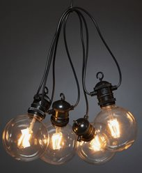 Ljusslinga startset E27 10 amber LED, dimmer, 24V/IP44