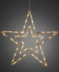 Stjärna akryl 58cm 48 varmvita LED multifunktion 24V/IP44