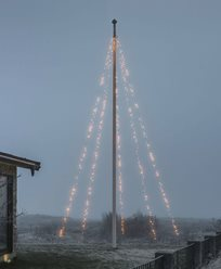 Flaggstångsslinga 5x100 frost.amber LED sv.soft kbl 24V/IP44