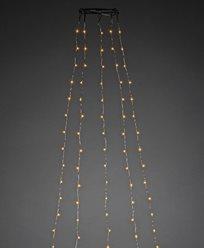Julgransslinga 180cm 5x36 amber LED. APP-kontroll silverfärgad kabel 14V/IP20