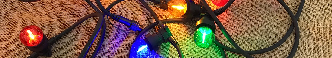 Fargede LED pærer