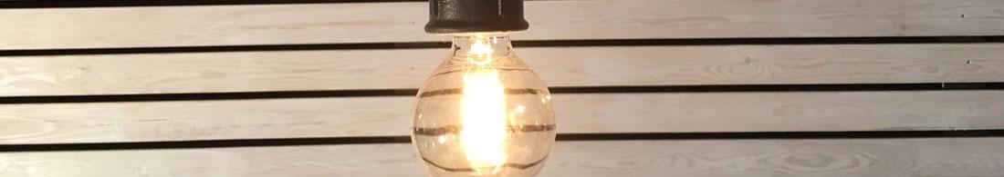 Taklamper utebelysning