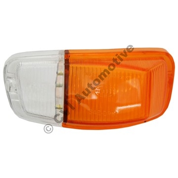 Flasher lens, Amazon B18/B20 LH (orange/clear)
