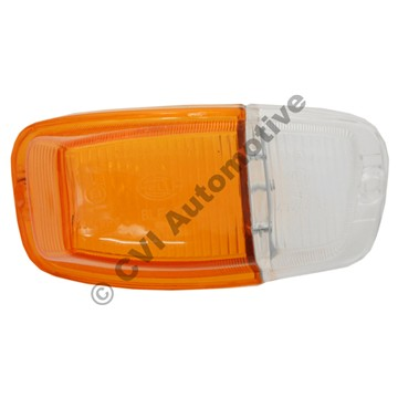 Flasher lens, Amazon B18/B20 RH (orange/clear)