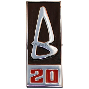 """""""B20"""" grille badge, 1969-70"""