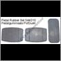 Pedal rubber set, PV/Duett