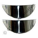 Peaked headlamp caps, chromed