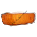 Flasher lens, 140 '67-'72 LH (with moulded rim)