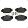 Bromsbelägg fram 740/900 '91-'98 ABS (+S90/V90)   Girling system