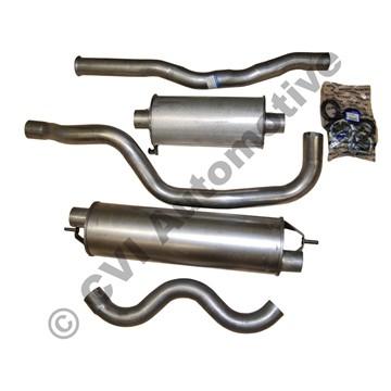 Avgashalvsats 240 turbo '81-'85 (svensktillverkad - ej original)