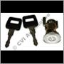Door lock + key, 240/260 81-93 LH