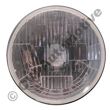 Headlamp insert, RHD flat glass H4  (R) (For LH traffic UK, Oz, NZ, SA, Japan)