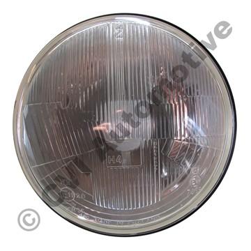 H4 h/lamp insert, RHD domed glass (NB! for LH traffic UK, Japan, Oz)